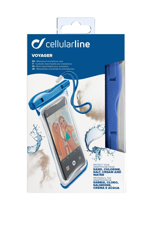 Cellularline VOYAGER 2019 vodotěsné pouzdro, modré