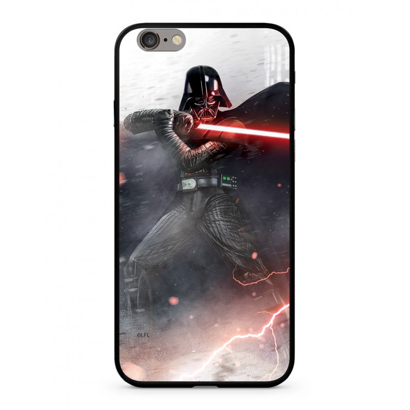 Star Wars Darth Vader 002 Premium Glass Kryt pro iPhone XR Multicolored