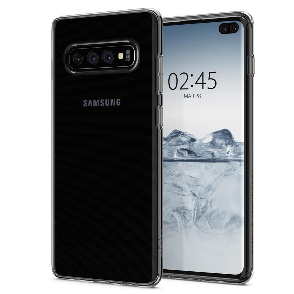 Ochranný kryt Spigen Liquid Crystal pro Samsung Galaxy S10 plus transparentní