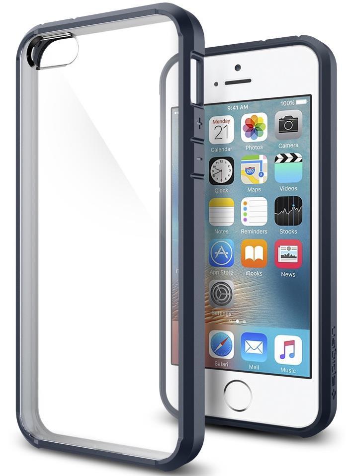 Ochranný kryt Spigen Ultra Hybrid pro Apple iPhone SE/5S/5 metalický