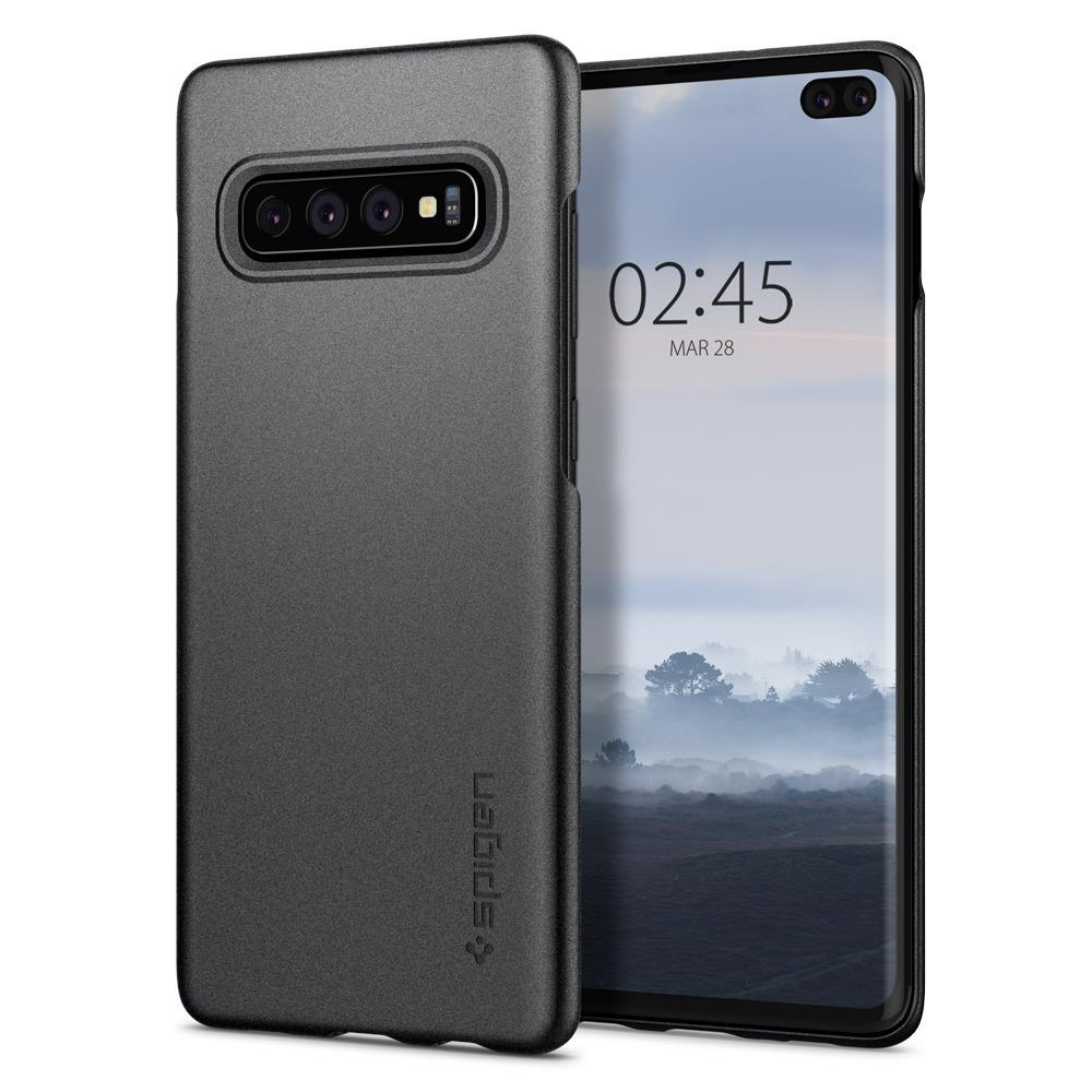 Ochranný kryt Spigen Thin Fit pro Samsung Galaxy S10 plus šedý