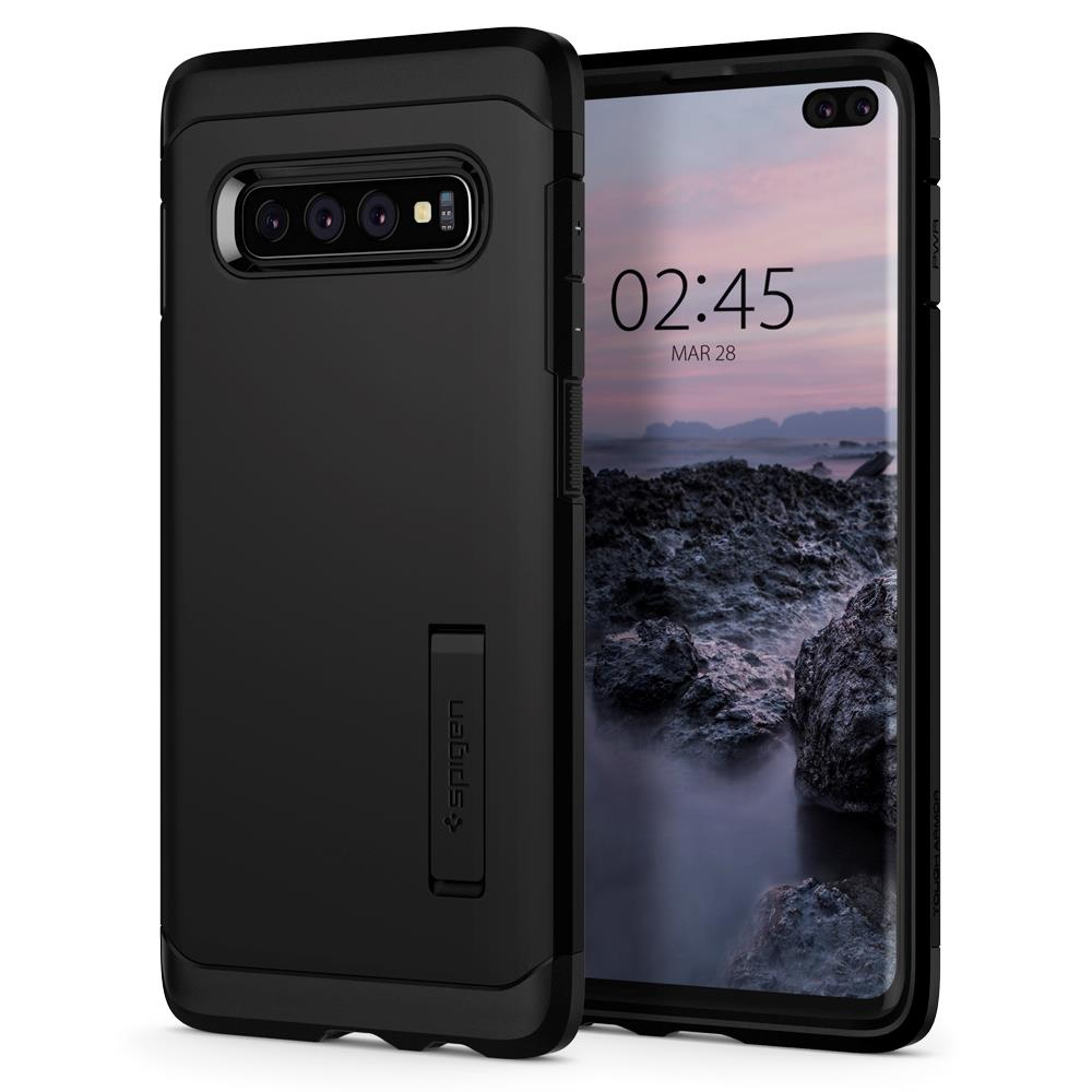 Ochranný kryt Spigen Tough Armor pro Samsung Galaxy S10 plus černý