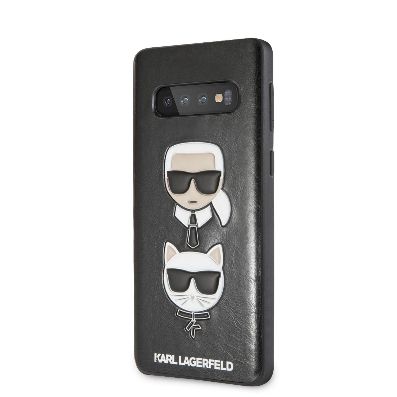 KLHCS10PKICKCSBK Karl Lagerfeld Karl and Choupette Hard Pouzdro pro Galaxy S10+ Black