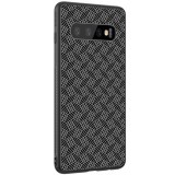 Nillkin Synthetic Fiber Ochranný Zadní Kryt Plaid Black pro Samsung G975 Galaxy S10+