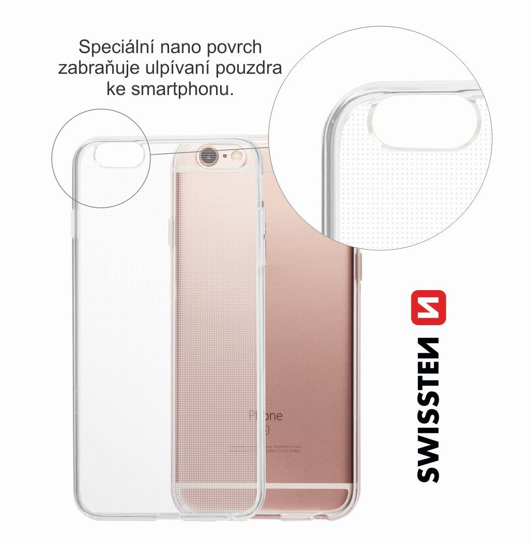 Pouzdro Swissten Clear Jelly pro Apple iPhone 7 Plus/8 Plus, transparentní