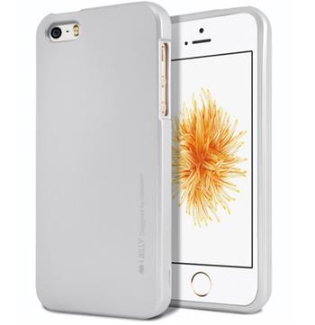 Silikonové pouzdro Mercury iJelly Metal pro Samsung Galaxy S9, stříbrné