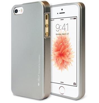 Silikonové pouzdro Mercury iJelly Metal pro Samsung Galaxy S9, šedé