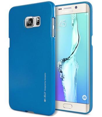 Silikonové pouzdro Mercury iJelly Metal pro Samsung Galaxy A8, modré