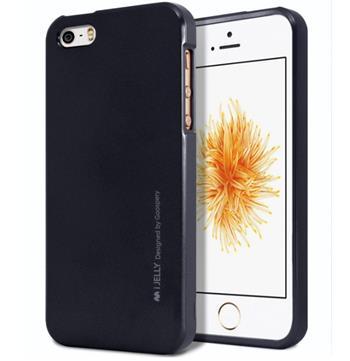 Silikonové pouzdro Mercury iJelly Metal pro Apple iPhone 4/4S/4G, černé