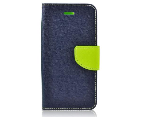 Fancy Diary flipové pouzdro pro Samsung Galaxy A9 2018, modro/limetkové