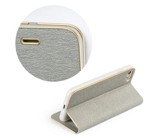 Pouzdro Forcell Luna Book pro Apple iPhone 7 Plus, 8 Plus, stříbrná
