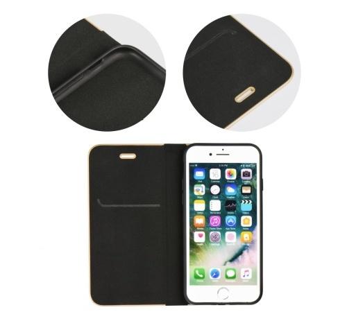 Pouzdro Forcell Luna Book pro Apple iPhone 7 Plus, 8 Plus, černá