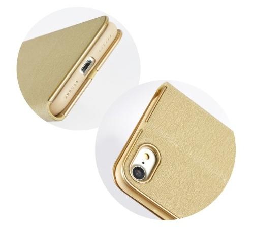 Pouzdro Forcell Luna Book pro Samsung Galaxy A40 (SM-A405), zlatá