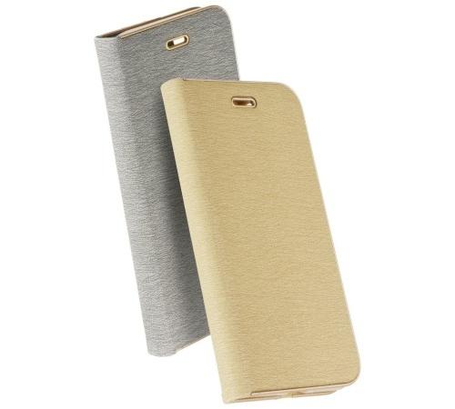 Pouzdro Forcell Luna Book pro Samsung Galaxy A40 (SM-A405), stříbrná