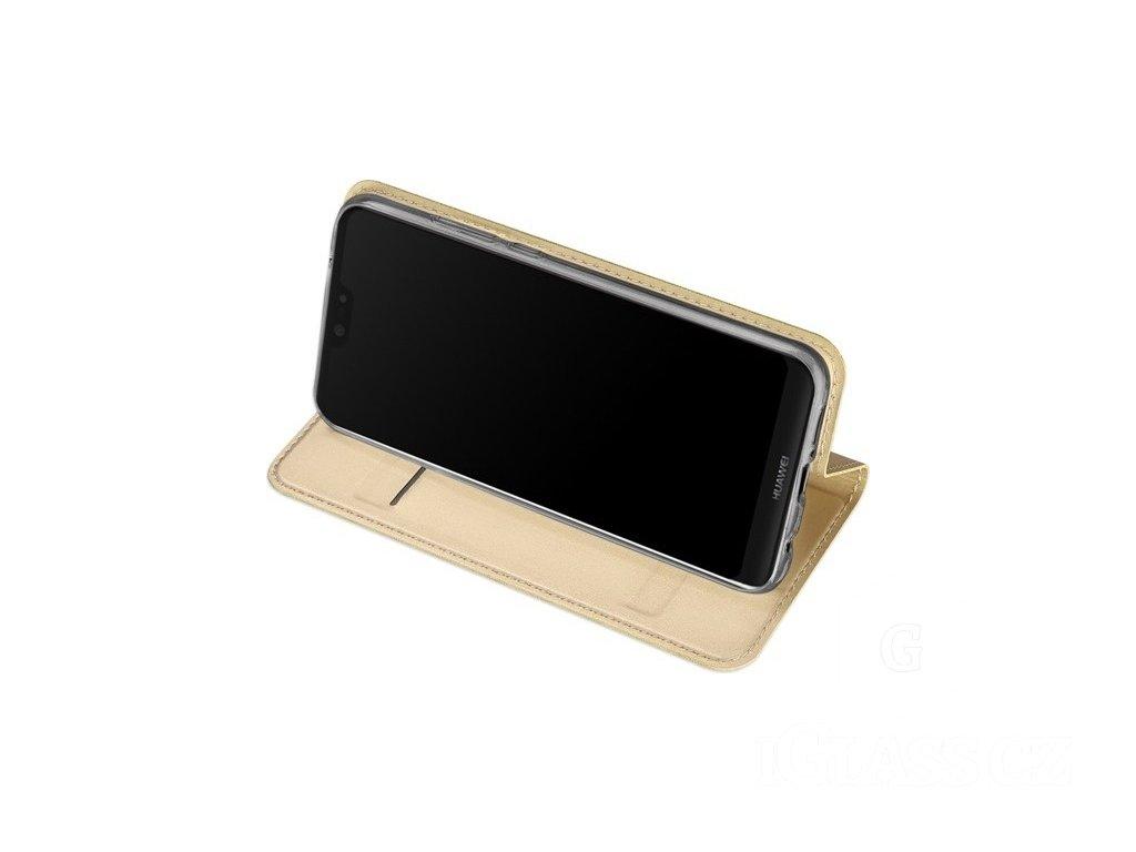 Flipové pouzdro Dux Ducis Skin pro Samsung Galaxy A20e, zlatá