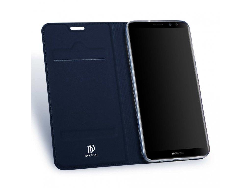 Flipové pouzdro Dux Ducis Skin pro Samsung Galaxy A40, tmavě modrá