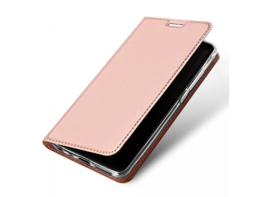 Flipové pouzdro Dux Ducis Skin pro Samsung Galaxy A40, světle růžová