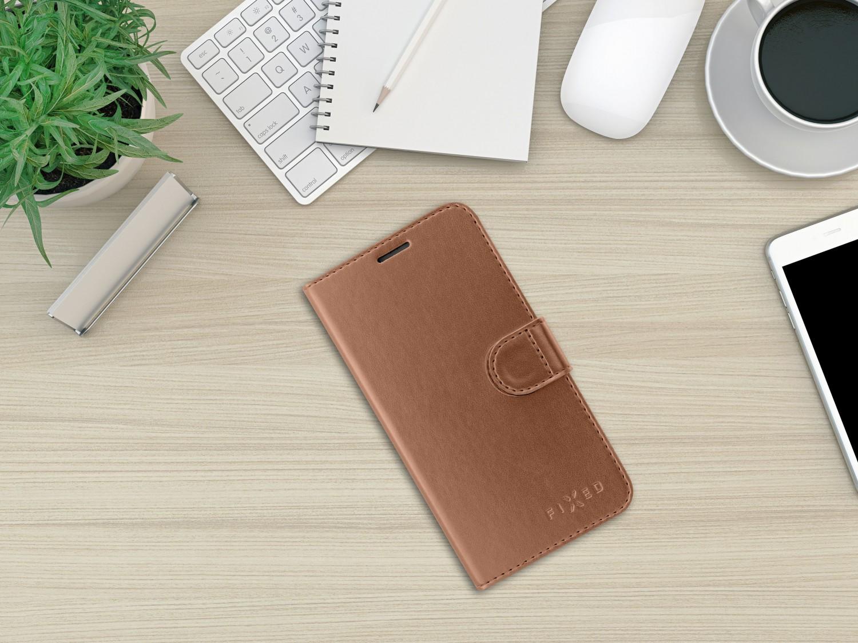 FIXED FIT SHINE flipové pouzdro pro Apple iPhone 11 PRO, bronzové