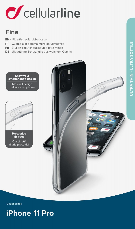 CellularLine Fine zadní kryt pro Apple iPhone 11 Pro, transparentní