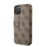 Guess Charms 4G pouzdro flip pro Apple iPhone 11 Pro brown