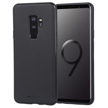 Silikonové pouzdro Mercury Style Lux pro Samsung Galaxy A8 2018, černá
