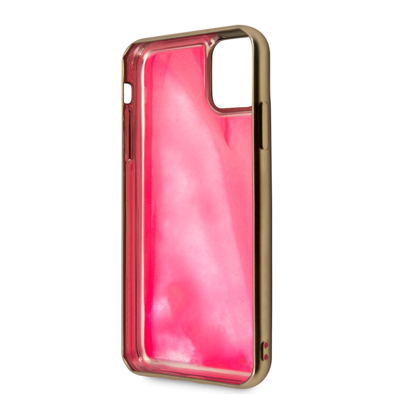 Guess Glow in The Dark GUHCN61GLTRPI Zadní Kryt pro Apple iPhone 11 pink