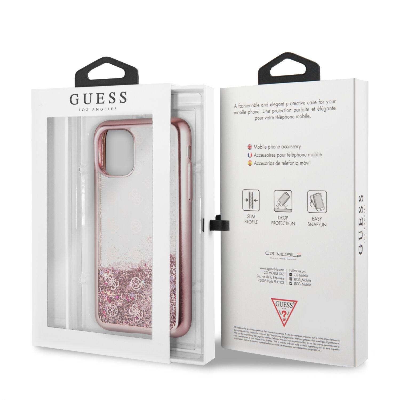 Guess 4G Peony Glitter GUHCN58PEOLGP Zadní kryt pro Apple 11 Pro rose