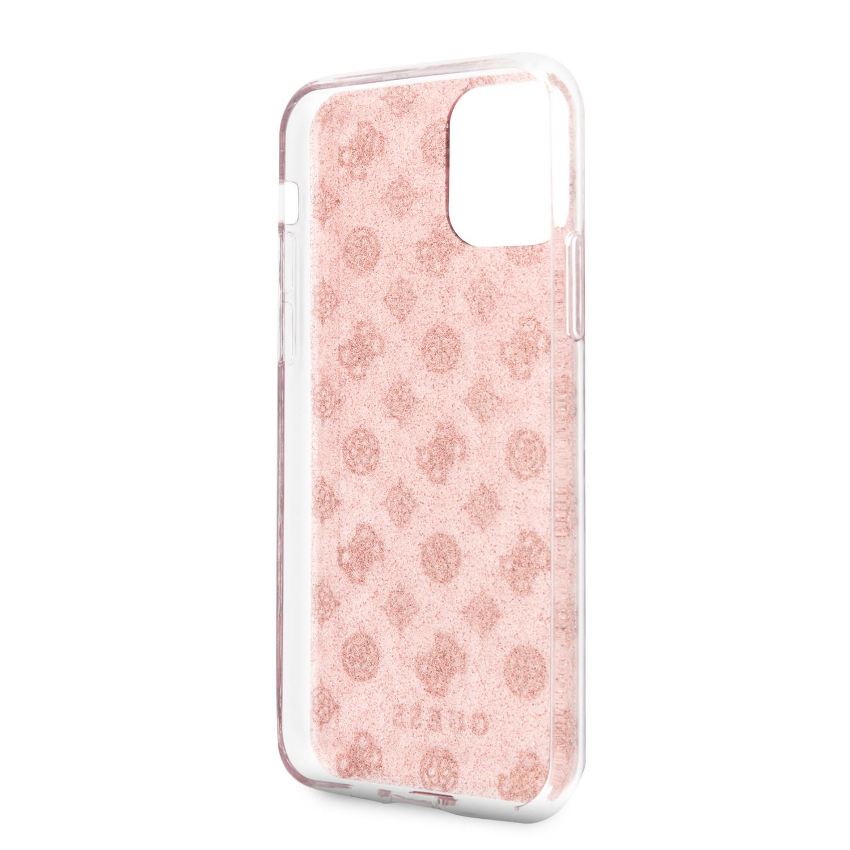 Guess 4G Peony Glitter GUHCN58TPERG Zadní kryt pro Apple iPhone 11 Pro pink