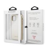 Guess Iridescent Zadní kryt GUHCN58IGLGO pro Apple iPhone 11 Pro gold