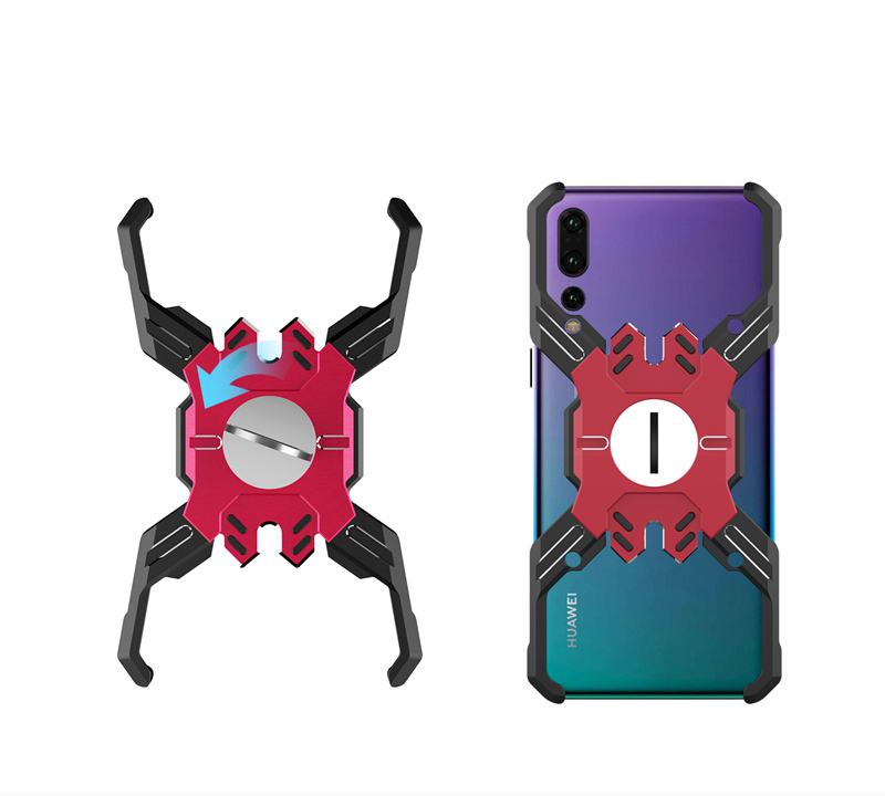 Luphie Heroes Rotation Aluminium Bumper Case Blue/Red pro Huawei P20 Pro