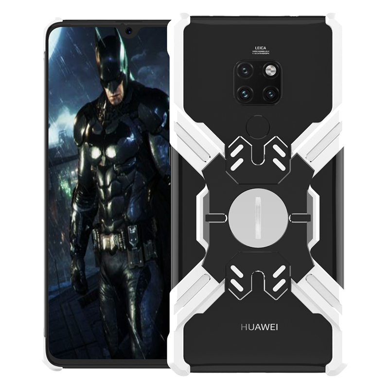 Luphie Heroes Rotation Aluminium Bumper Case Silver/Black pro Huawei Mate 20 Pro