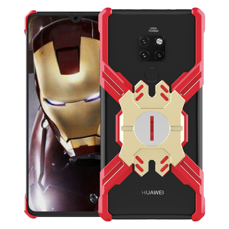 Luphie Heroes Rotation Aluminium Bumper Case Red/Gold pro Huawei Mate 20 Pro
