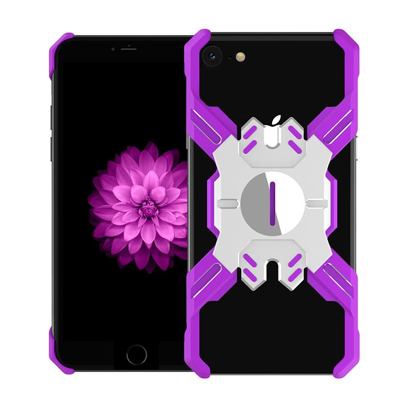Luphie Heroes Rotation Aluminium Bumper Case Purple/Silver pro iPhone 6/6S/7/8