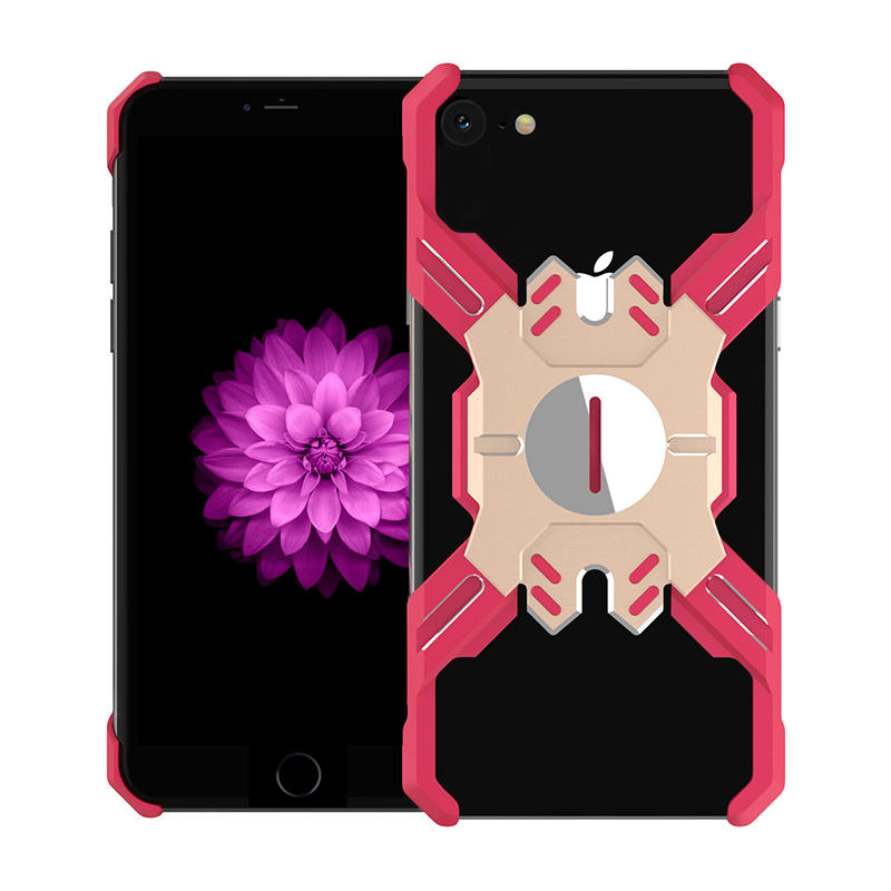 Zadní kryt Luphie Heroes Rotation Aluminium Bumper pro Apple iPhone XR, red/gold