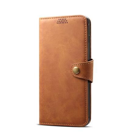 Lenuo Leather flipové pouzdro na Samsung Galaxy J6+, brown