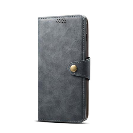 Lenuo Leather flipové pouzdro na Huawei Y7 Prime 2019, dark grey