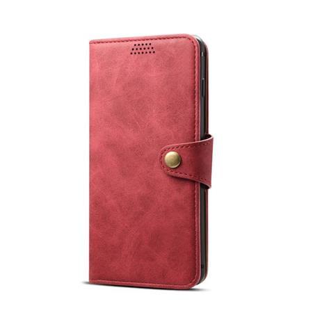 Lenuo Leather flipové pouzdro na Samsung Galaxy S10, red