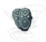 Bluetooth handsfree pro uzavřené a otevřené přilby CellularLine Interphone AVANT, Twin Pack