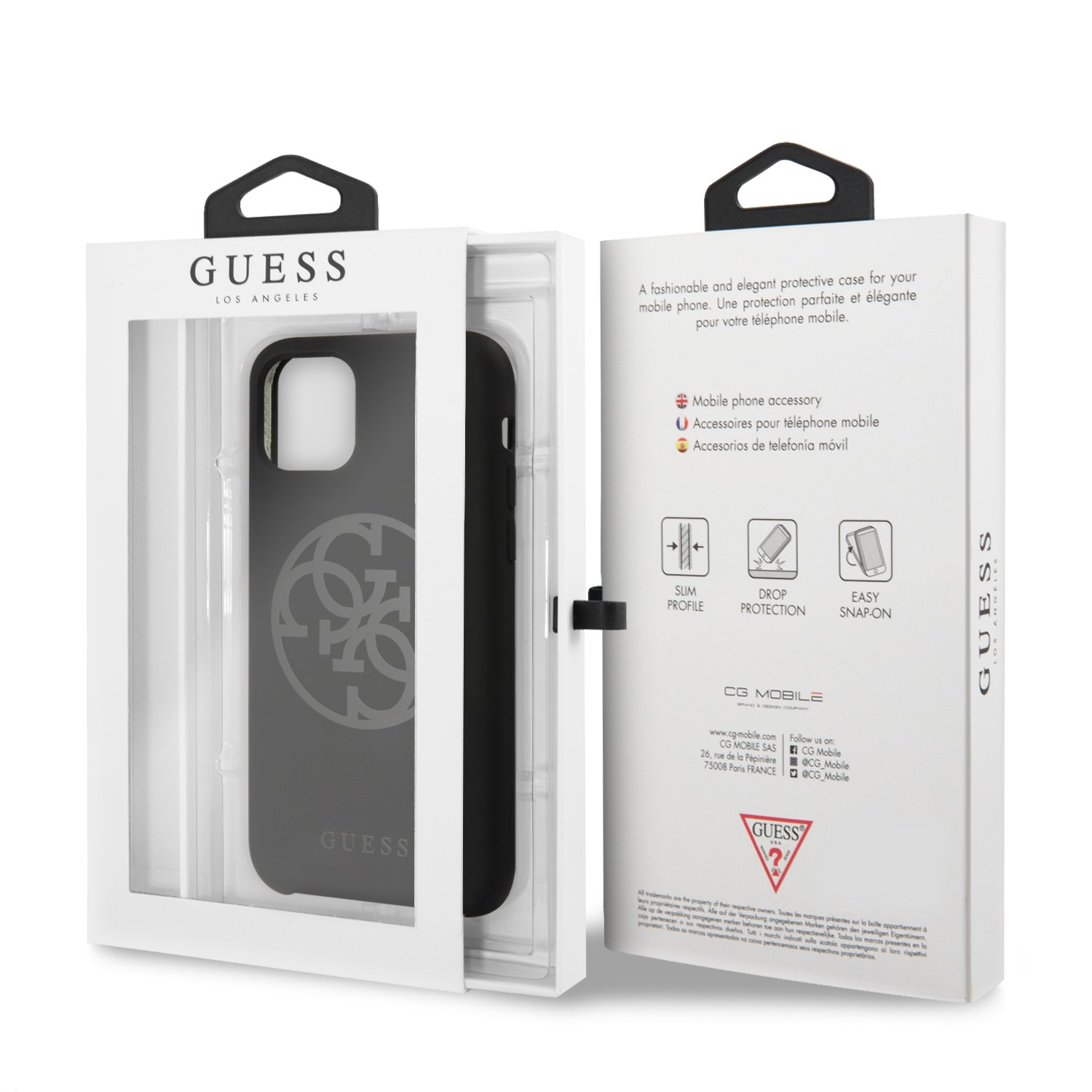 Guess 4G Silicone Tone Zadní kryt GUHCN61LS4GBK pro Apple iPhone 11 black