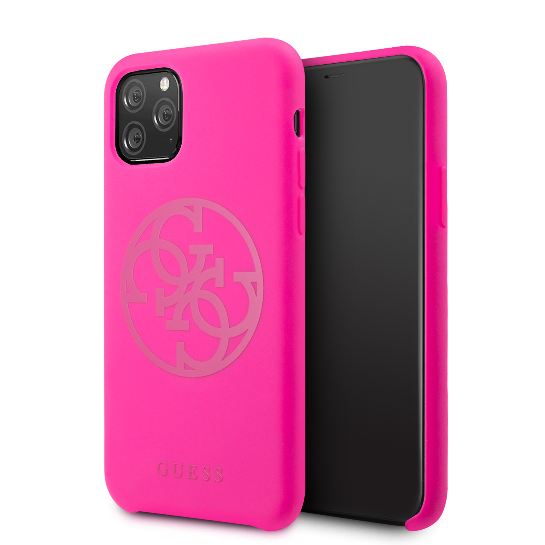 Guess 4G Tone on Tone Zadní kryt GUHCN58LS4GFU pro Apple iPhone 11 Pro fuchsia