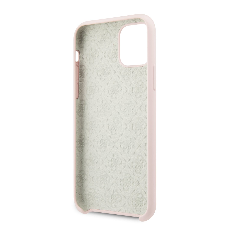 Guess 4G Tone on Tone Zadní kryt GUHCN65LS4GLP pro Apple iPhone 11 Pro Max light pink