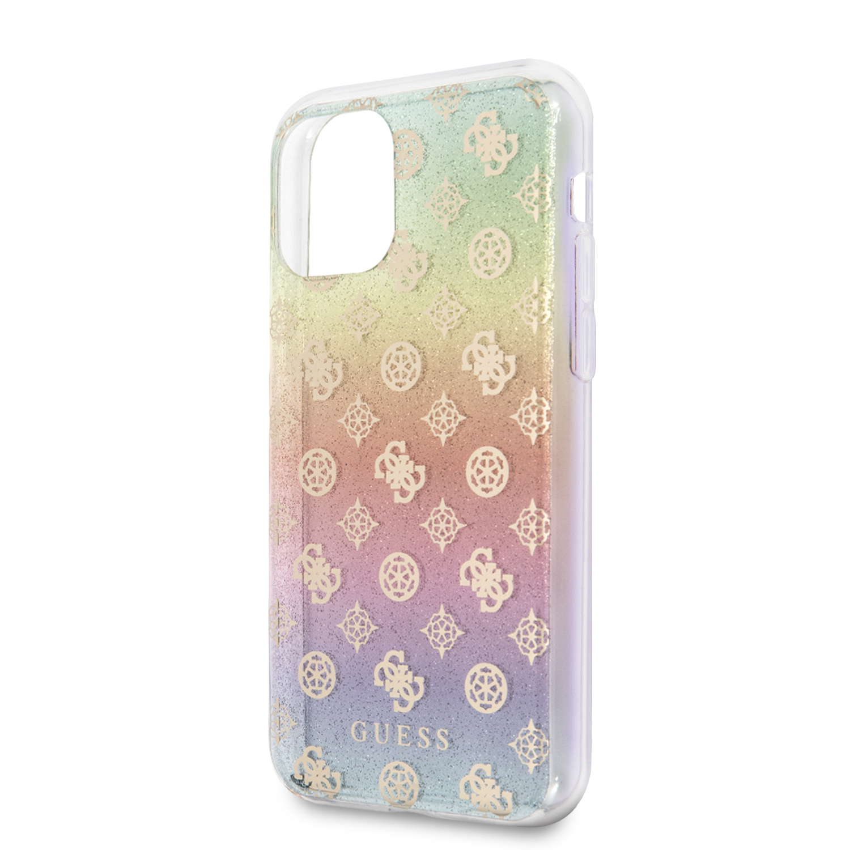 Guess Iridescent 4G Peony Zadní kryt GUHCN65PEOML pro Apple iPhone 11 Pro Max