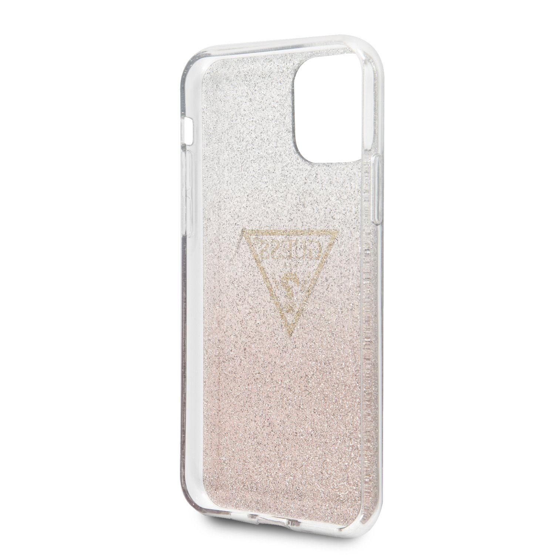 Guess Solid Glitter Zadní kryt GUHCN61SGTLPI pro Apple iPhone 11 pink