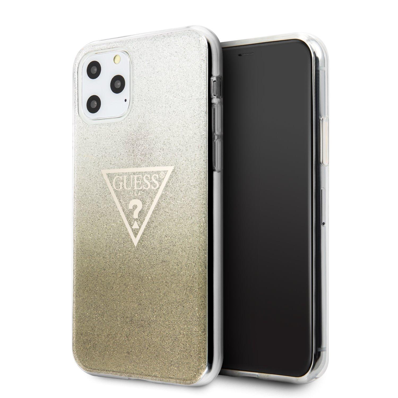 Guess Solid Glitter Zadní kryt GUHCN61SGTLGO pro Apple iPhone 11 gold
