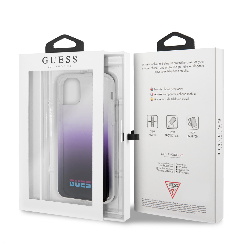 Guess California Zadní kryt GUHCN61DGCPU pro Apple iPhone 11 purple