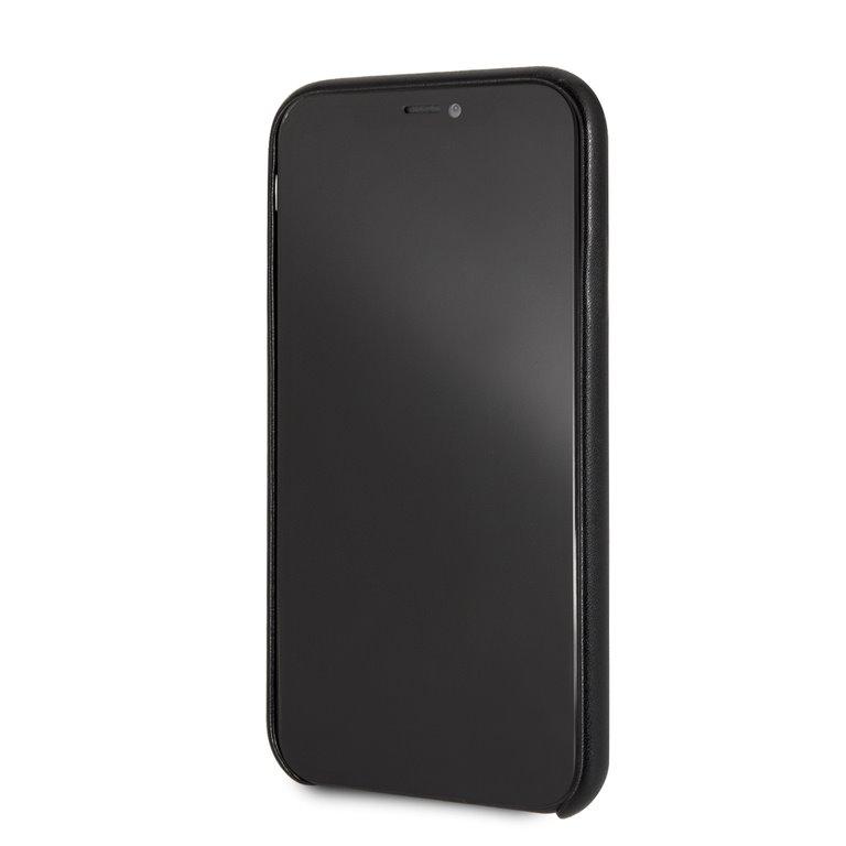 Guess Triangle Zadní kryt GUHCI61PTPUBK pro Apple iPhone XR black