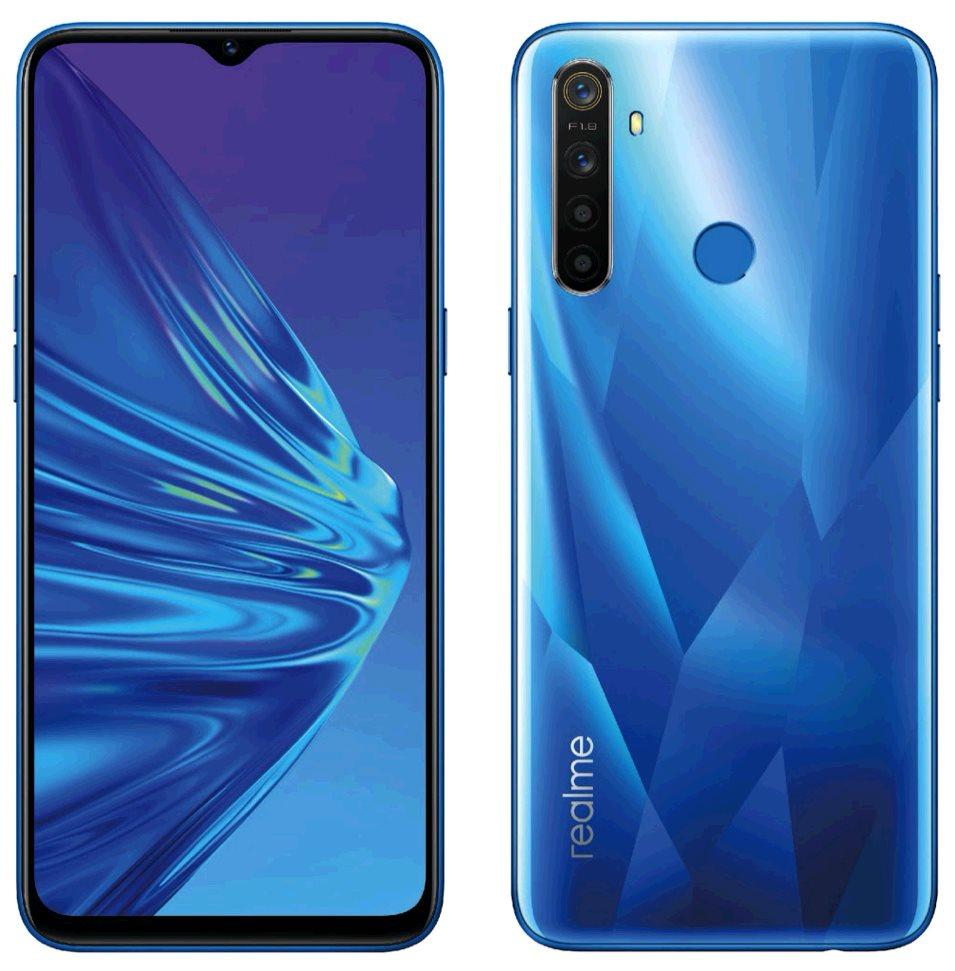Realme 5 DualSIM 4+128GB gsm tel. Crystal Blue