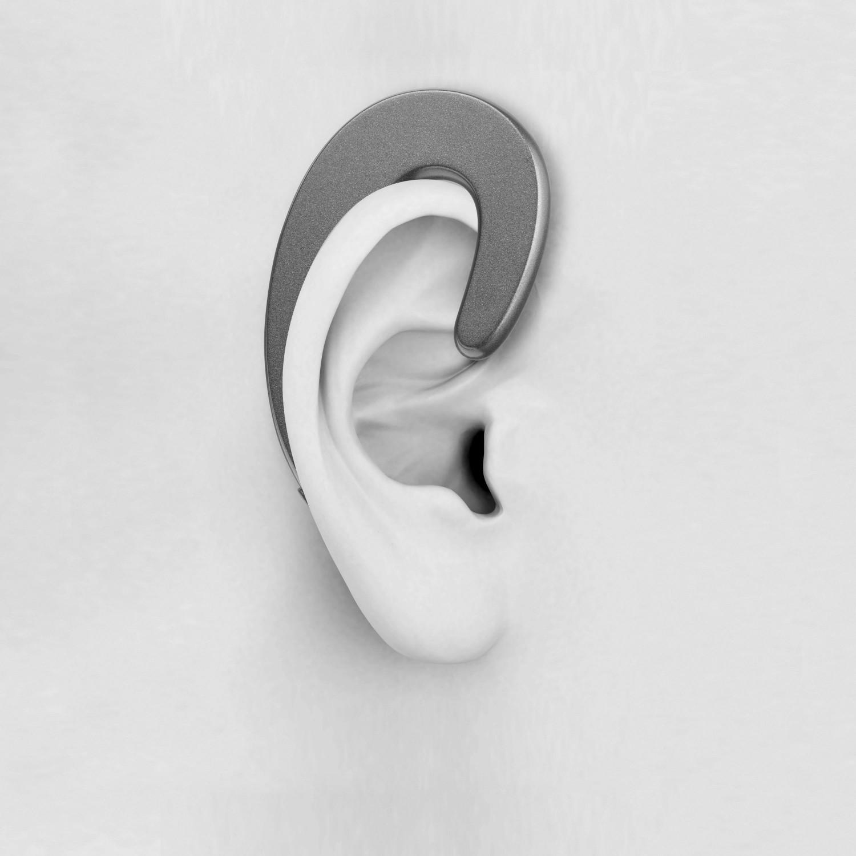 Bluetooth headset Cellularline Hear s ergonomickým designem, černá