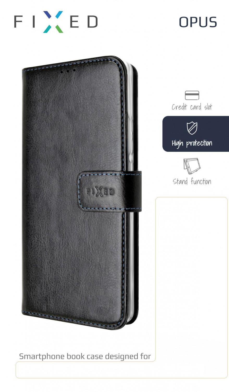 FIXED Opus flipové pouzdro pro Motorola One Action, černé