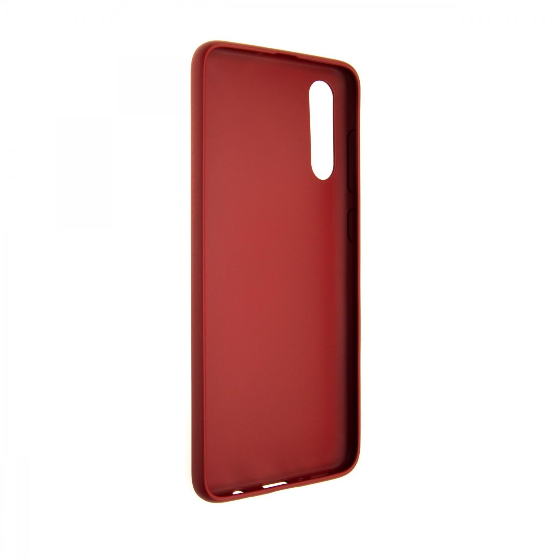 Zadní pogumovaný kryt FIXED Story pro Samsung Galaxy A70s, červený